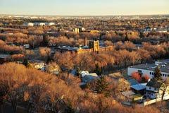 Paisaje urbano de Edmonton del otoño foto de archivo