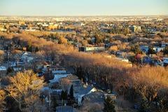 Paisaje urbano de Edmonton del otoño fotos de archivo