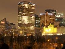Paisaje urbano de Edmonton en invierno Imagen de archivo libre de regalías