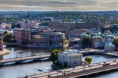 Paisaje urbano de Estocolmo Imágenes de archivo libres de regalías