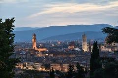Paisaje urbano de Florencia Foto de archivo libre de regalías