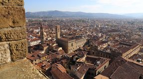 Paisaje urbano de Florencia, Italia Foto de archivo