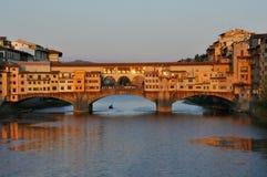 Paisaje urbano de Florencia por el día, Ponte Vecchio imagen de archivo libre de regalías