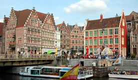 Paisaje urbano de Gante, Bélgica Imagen de archivo