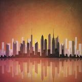 Paisaje urbano de Grunge ilustración del vector