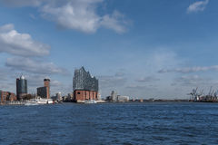 Paisaje urbano de Hamburgo imagen de archivo