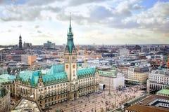 Paisaje urbano de Hamburgo fotos de archivo libres de regalías