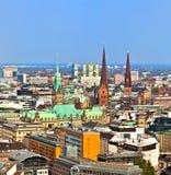 Paisaje urbano de Hamburgo de imágenes de archivo libres de regalías