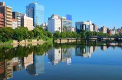 Paisaje urbano de Hiroshima Imagen de archivo libre de regalías