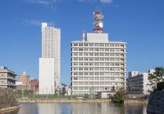 Paisaje urbano de Hiroshima céntrica Imagen de archivo libre de regalías