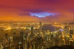 Paisaje urbano de Hong-Kong Imagen de archivo libre de regalías