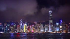 Paisaje urbano de Hong-Kong almacen de metraje de vídeo
