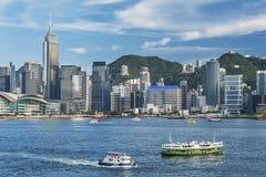 Paisaje urbano de Hong-Kong Foto de archivo libre de regalías