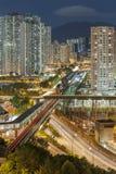 Paisaje urbano de Hong-Kong Foto de archivo