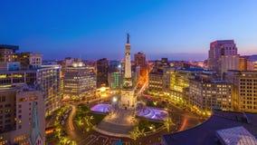 Paisaje urbano de Indianapolis, Indiana, los E.E.U.U. almacen de metraje de vídeo