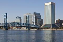 Paisaje urbano de Jacksonville, la Florida Foto de archivo libre de regalías