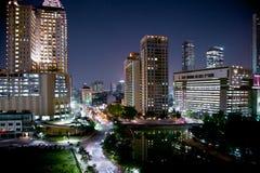 Paisaje urbano de Jakarta en la noche, Java, Indonesia. imagen de archivo libre de regalías