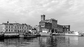 Paisaje urbano de Kalmar Imagenes de archivo