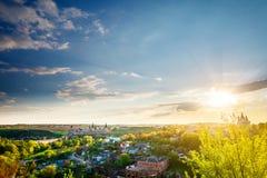 Paisaje urbano de Kamianets Podilskyi Imagen de archivo