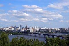 Paisaje urbano de Kiev Imagen de archivo libre de regalías