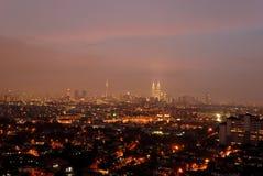Paisaje urbano de Kuala Lumpur Imagen de archivo libre de regalías