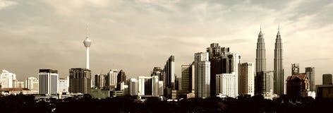 Paisaje urbano de Kuala Lumpur fotografía de archivo libre de regalías