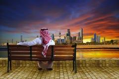 Paisaje urbano de Kuwait imagen de archivo libre de regalías
