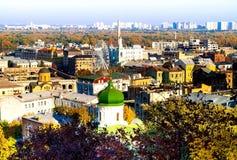 Paisaje urbano de Kyev, vista del cuadrado de Kontraktova fotos de archivo libres de regalías