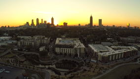 Paisaje urbano de la antena de Atlanta metrajes