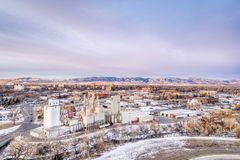 Paisaje urbano de la antena de Fort Collins Imagen de archivo