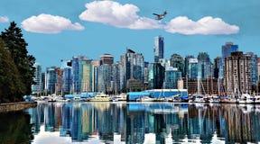 Paisaje urbano de la bahía de Vancouver Foto de archivo libre de regalías