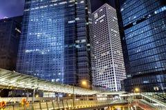 Paisaje urbano de la central, Hong Kong Imágenes de archivo libres de regalías