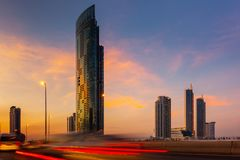 Paisaje urbano de la ciudad de Bangkok y de los edificios de los rascacielos de Tailandia , Paisaje del panorama del negocio y ce fotografía de archivo libre de regalías