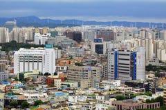 Paisaje urbano de la ciudad de Corea Suwon Imagen de archivo libre de regalías