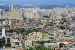 Paisaje urbano de la ciudad de Corea Suwon Imágenes de archivo libres de regalías