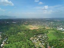 Paisaje urbano de la ciudad de Managua foto de archivo