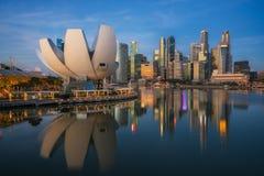 Paisaje urbano de la ciudad de Singapur fotografía de archivo libre de regalías