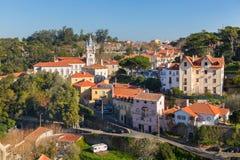 Paisaje urbano de la ciudad de Sintra Imagen de archivo