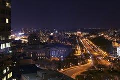 Paisaje urbano de la ciudad del centro Fotografía de archivo
