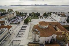 Paisaje urbano de la ciudad histórica de ZAdar imágenes de archivo libres de regalías