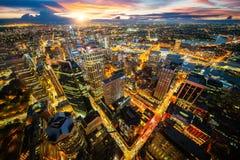 Paisaje urbano de la ciudad de Sydney del top del tejado de la torre imagen de archivo