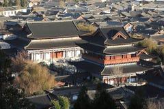 Paisaje urbano de la ciudad tradicional china, Lijiang, Yunnan, China Imagen de archivo