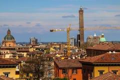 Paisaje urbano de la ciudad vieja en Bolonia Fotos de archivo