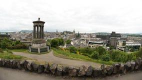 Paisaje urbano de la colina de Calton, Edimburgo - Escocia Fotografía de archivo