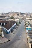 Paisaje urbano de la costa del cabo, Ghana Imágenes de archivo libres de regalías