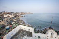 Paisaje urbano de la costa del cabo, Ghana Fotografía de archivo