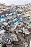 Paisaje urbano de la costa del cabo, Ghana Fotografía de archivo libre de regalías