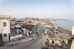 Paisaje urbano de la costa del cabo, Ghana Fotos de archivo