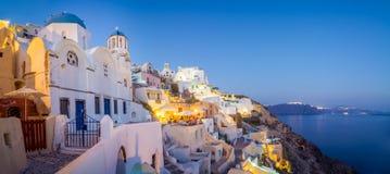 Paisaje urbano de la isla de Santorini Fotografía de archivo libre de regalías