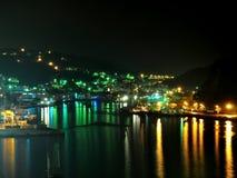 Paisaje urbano de la noche de Keelung Foto de archivo libre de regalías